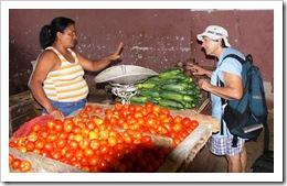 Yvonne Katchor shopping in Santiago de Cuba