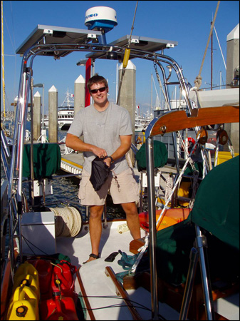 Nick had bought a big, shiny cruising boat and loaded it with equipment to keep them comfortable. Photo provided by Nick O'Kelly