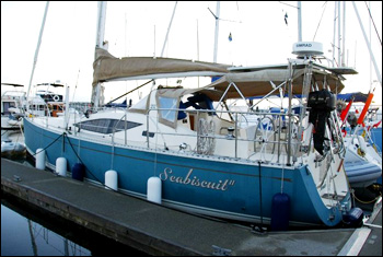 SEABISCUIT, the snazzy Saga 40 cruiser we chartered in Canada