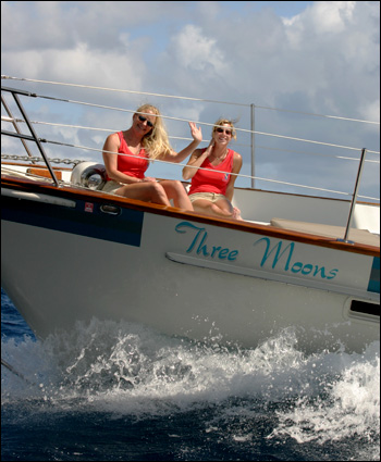 In 1989, Shelly &amp; Randy Tucker chartered with Gwen Hamlin on s/v Whisper. 8 years later, they bought their own charterboat, THREE MOONS, and ...they are still in the yacht charter business! 