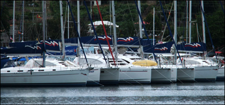 A Mooring charter fleet in the Caribbean