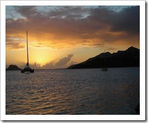 Sunset at Union Island in the Grenadines