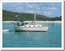 Illusions - my 29' Island Packet - in Culebra