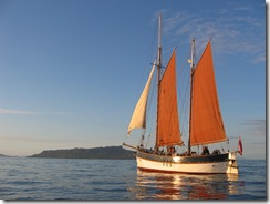 Lista Light, our 75 year old, wooden sailing boat