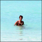 Kathy Parsons enjoying that clear Bahamas water