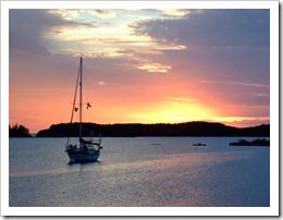 Sunset, Hatchet Bay, Eleuthera