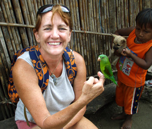 I got to meet the pets of some Kuna kids in the San Blas Islands of Panama!