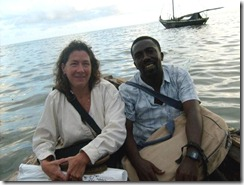 Donna Lange with Jean Phelix Joseph on Ile a Vache, Haiti in 2009