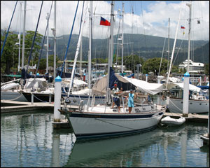 Mahina in Apia Marina - Samoa