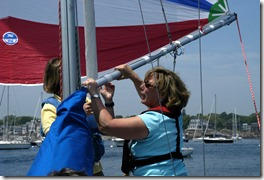 Spinnaker pole handling, Photo credit: Rebecca Waters