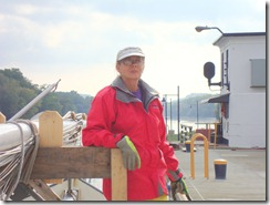 Ruth, ready to drop down in the lock