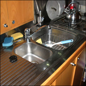 Counter With Drying Rack In Sink