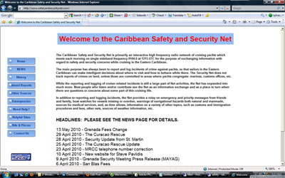 The Caribbean Safety and Security Net website