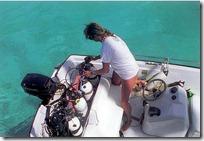 gwen setting up whaler