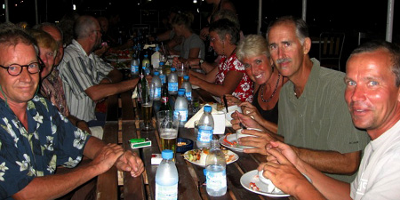 The idea for this story came after a fun dinner with seven cruising couples in Apia Samoa.