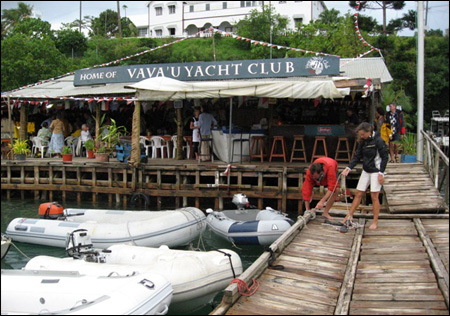 At many cruising crossroads, there are special places where cruisers gather. The Yacht Club restaurant at Vava'u was one. Unfortunately, it can be so easy to spend the majority of your time at places like this, that you have no time left to meet local folks.