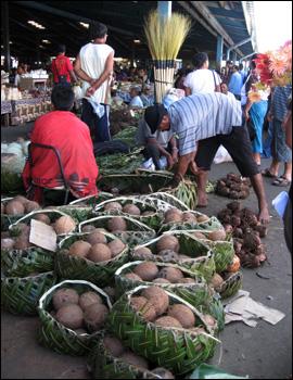 Market scene in Western Samoa