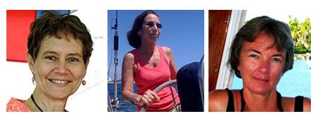 Kathy Parsons, Pam Wall and Gwen Hamlin