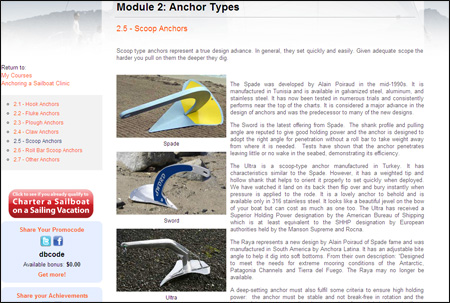 Anchoring a Sailboat Clinic