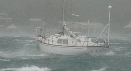 South Pacific: S/V CARIBEE riding comfortably in 80 knots after hurricane Rene passed - Photo provided by Cheryl Baker