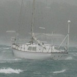 S/V CARIBEE during hurricane Rene