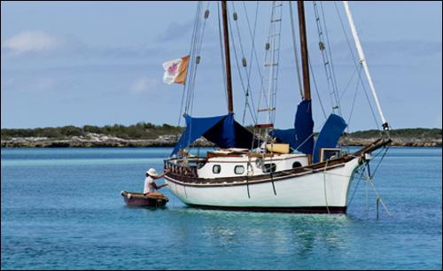 Annie Laurie, Allan's Cays, Exumas (Bahamas). Photo by Wanda DeWaard