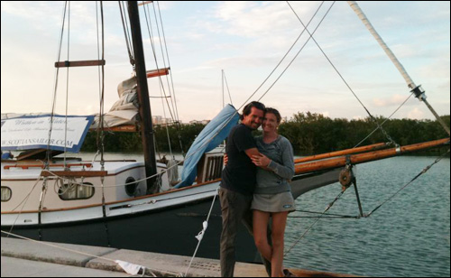 Phil and I, No Name Harbor, Key Biscayne, FL. Photo by Ann Spencer