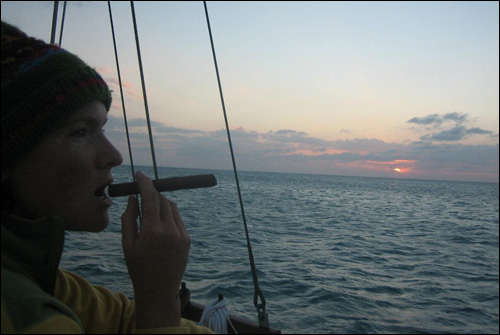 My first, and only, Cuban cigar, following a stressful reef crossing in 25 knots and no charts