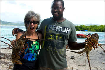 Ann Vanderhoof on Saline Island, Carriacou