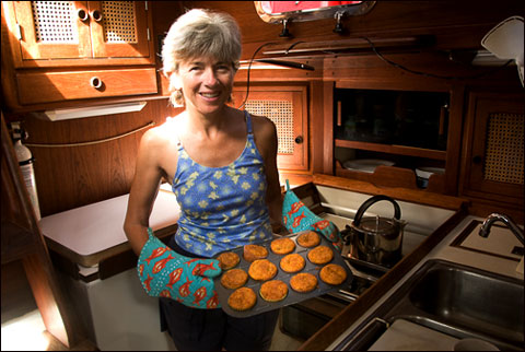 Ann Vanderhoof's galley aboard Receta