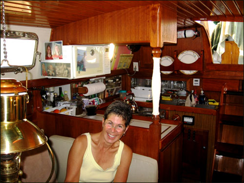 Lisa Shofield in Lady Galadriel's galley